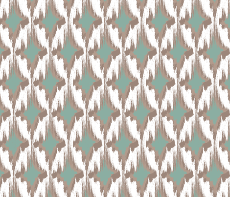 Kin (Teal) fabric by einekleinedesignstudio on Spoonflower - custom fabric