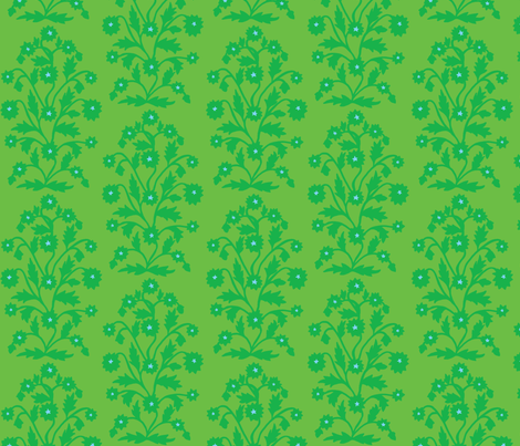 Solange verte fabric kateaustindesigns spoonflower for Architecture verte