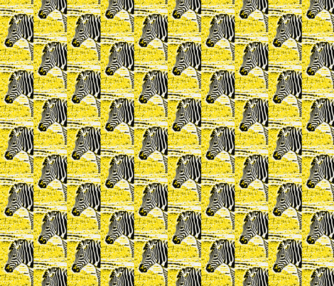zebradrama-lemon fabric by hillarywhite on Spoonflower - custom fabric