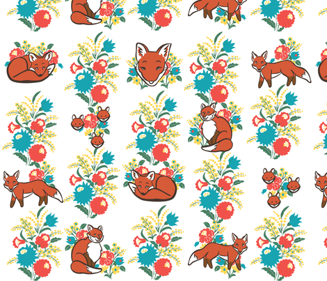 Fox forest 2012 fabric by nikky on Spoonflower - custom fabric