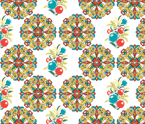 HungarianFloralB2012 fabric by nikky on Spoonflower - custom fabric