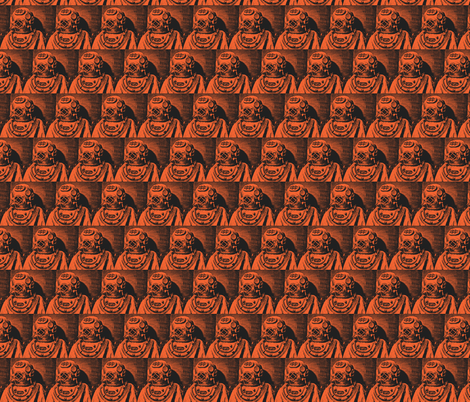 deep_sea_diver-terracotta fabric by hillarywhite on Spoonflower - custom fabric