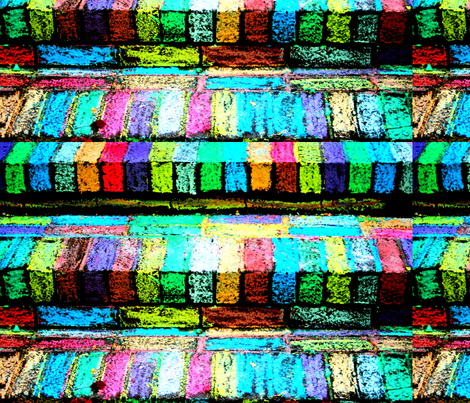 rainbow_bricks fabric by hillarywhite on Spoonflower - custom fabric