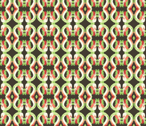 flaming-greens fabric by hillarywhite on Spoonflower - custom fabric