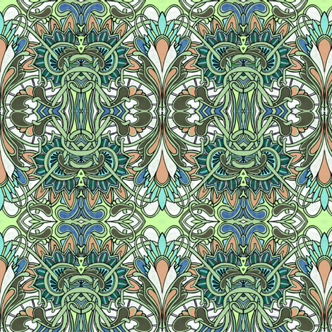 Garden Kaleidoscope fabric by edsel2084 on Spoonflower - custom fabric