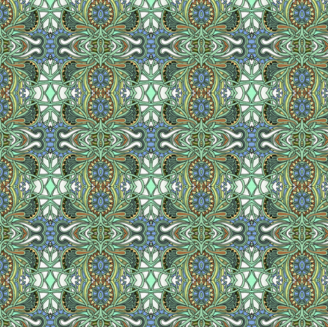 Winged Vertical Paisley Stripes fabric by edsel2084 on Spoonflower - custom fabric