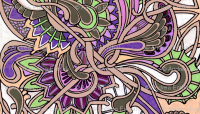 Tangled Zig Zag Paisley and Vines