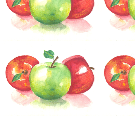 apples fabric by elenamalec on Spoonflower - custom fabric