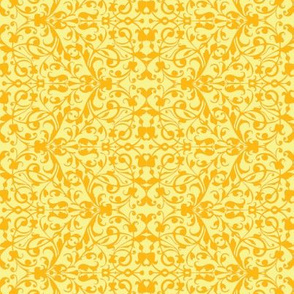Floral  yellow antique lace