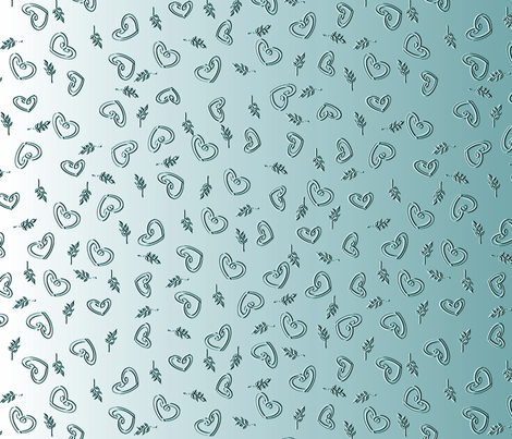 Ocean Love (Please view at all widths for full effect) fabric by inscribed_here on Spoonflower - custom fabric