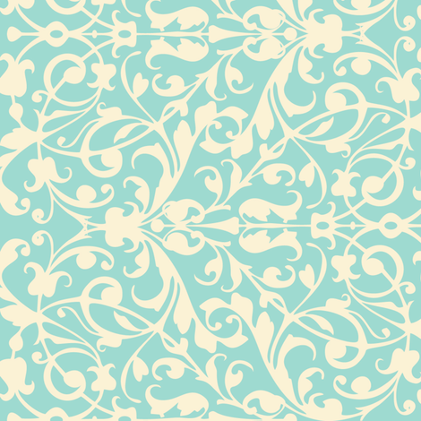 Floral lace swirl fabric by antuanetto on Spoonflower - custom fabric