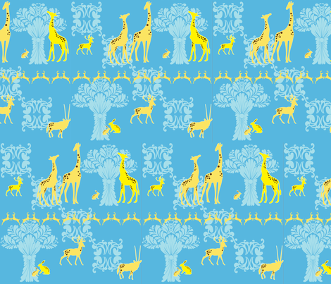 animals fabric by preethiprabhuram on Spoonflower - custom fabric