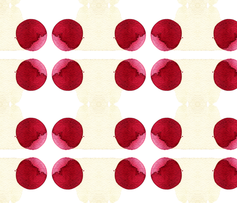 cestlaviv_red ball fabric by cest_la_viv on Spoonflower - custom fabric