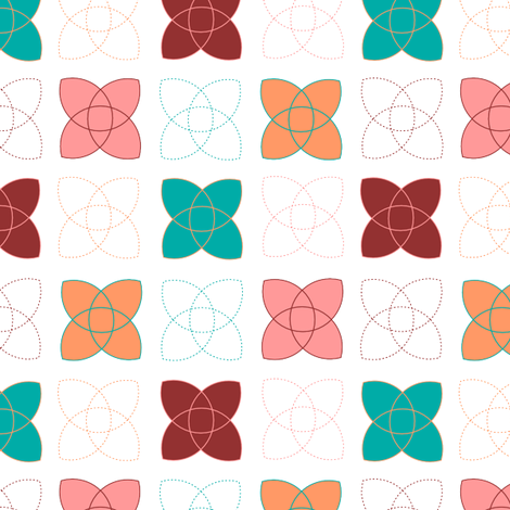 Atom - Multi-coloured fabric by me-udesign on Spoonflower - custom fabric