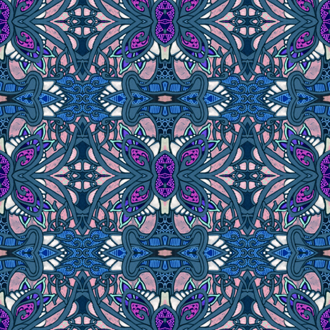 Stained Glass Papillon fabric by edsel2084 on Spoonflower - custom fabric