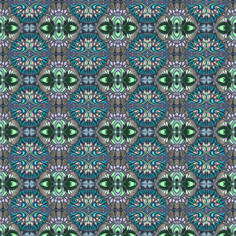Stained Glass Circles fabric by edsel2084 on Spoonflower - custom fabric