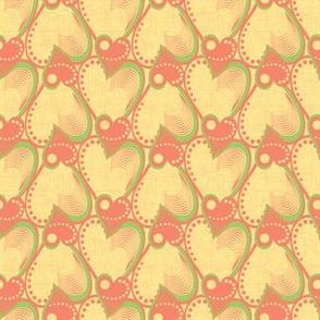Yellow heart pattern