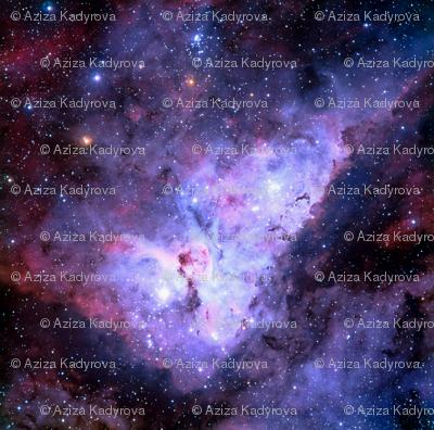 Carina Nebula (edited, blue)