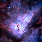 Carina Nebula (edited, blue)