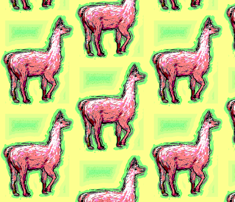 Habba_Zzabba_Llama1 fabric by vinkeli on Spoonflower - custom fabric