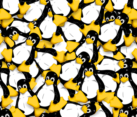 Tux the Linux Penguin fabric by spacefem on Spoonflower - custom fabric