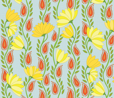 Heroic Floral fabric by wildnotions on Spoonflower - custom fabric