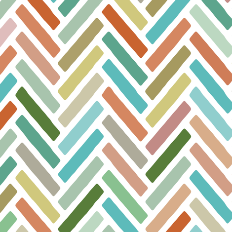 pastel herringbone fabric by scrummy on Spoonflower - custom fabric