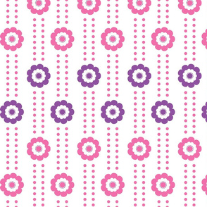 Pink n Purple Flower Stripes