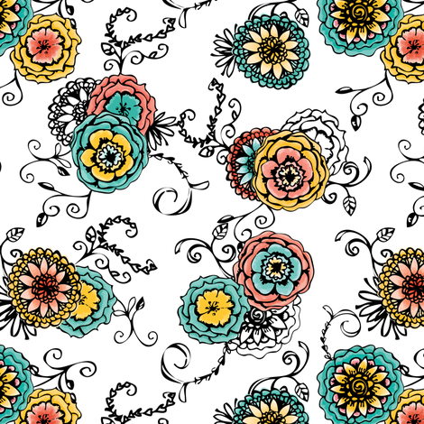 Soft Floral fabric by eedeedesignstudios on Spoonflower - custom fabric