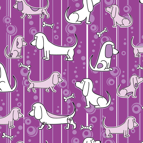 Modern Bassets fabric by robyriker on Spoonflower - custom fabric