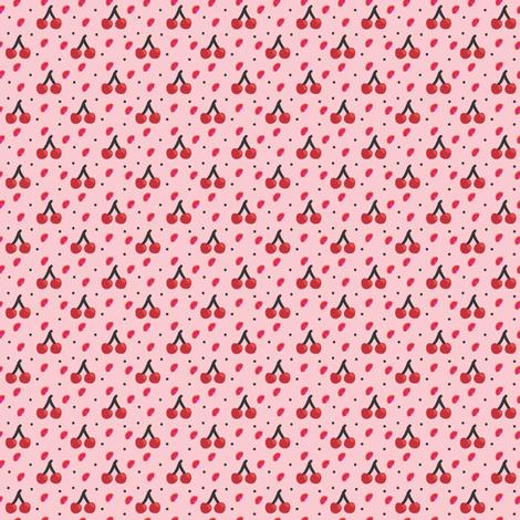 mini cherries fabric by nekanen_designs on Spoonflower - custom fabric