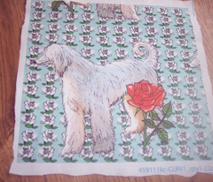 Afghan and Roses Two