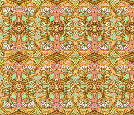 BIG Return of Art Nouveau fabric by edsel2084 on Spoonflower - custom fabric