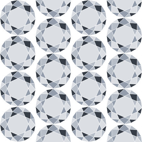 Diamonds fabric by blondfish on Spoonflower - custom fabric
