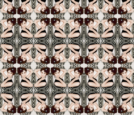 victorian with watercolor fabric by kociara on Spoonflower - custom fabric