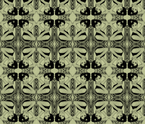 victorian in green fabric by kociara on Spoonflower - custom fabric