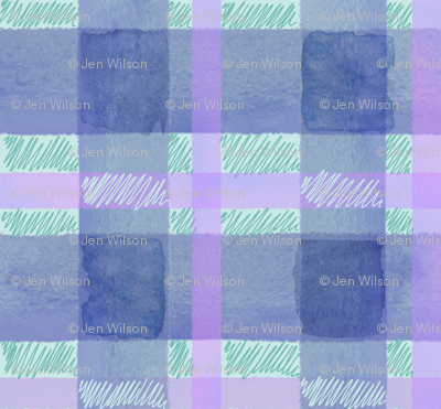 Watercolor plaid in blue