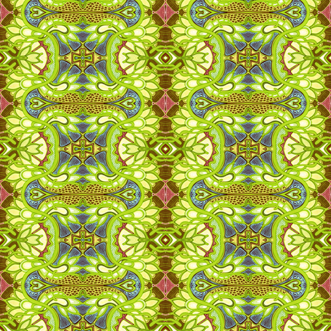 The Lizards Hide When Chartrouse Screams fabric by edsel2084 on Spoonflower - custom fabric