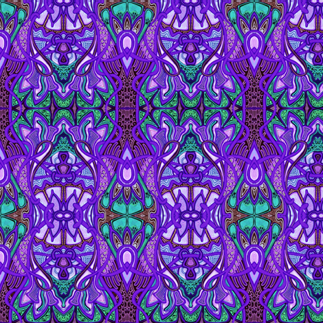 Psychedelic Purple Retro Gypsy Stripe fabric by edsel2084 on Spoonflower - custom fabric