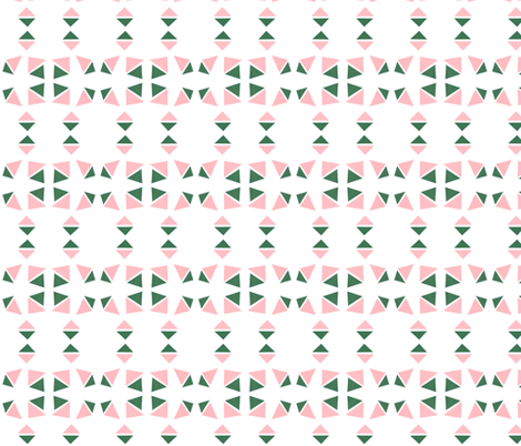 triangle pink evergreen fabric by studiojelien on Spoonflower - custom fabric