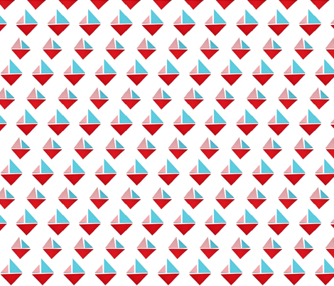 triangle boats fabric by studiojelien on Spoonflower - custom fabric