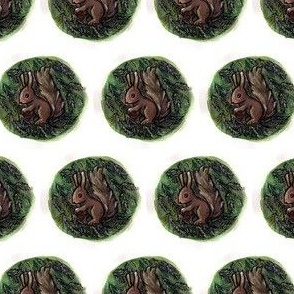 squirrel and fir cone
