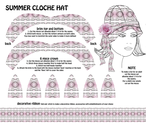 summer cloche fabric by kociara on Spoonflower - custom fabric