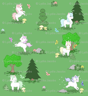 Playful Unicorns in the Forest