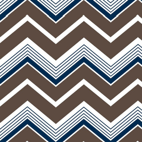 Blue and brown chevrons