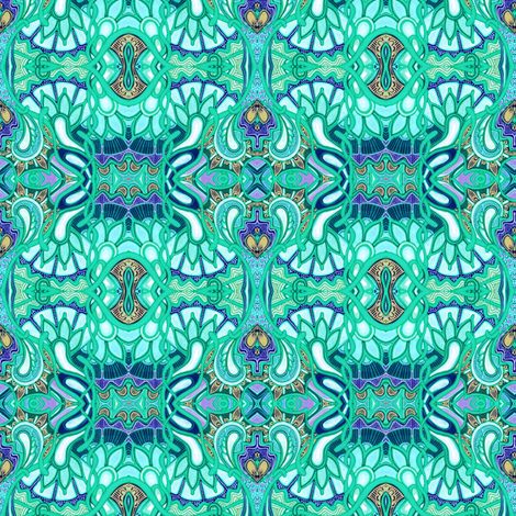 Drippy Trippy Hippie Paisley fabric by edsel2084 on Spoonflower - custom fabric