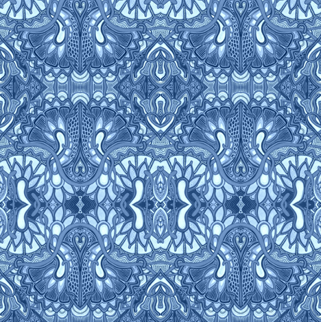 Psychedelic Delft fabric by edsel2084 on Spoonflower - custom fabric