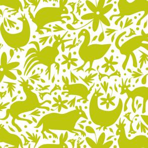 Mexico Springtime: LemonLime on White (Large Scale)