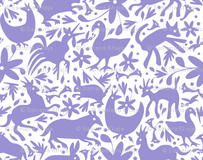 Mexico Springtime: Lilac on White (Large Scale)