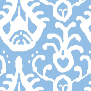 Baby Blue Ikat